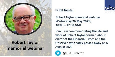 Robert Taylor memorial webinar tickets