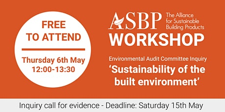 ASBP Workshop: EAC Inquiry – Sustainability of the Built Environment tickets