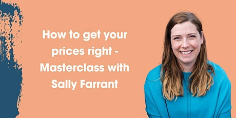 How to get your prices right Masterclass tickets