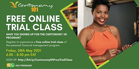 Free Trial Class -  Centonomy 101 (Personal Financial Management) tickets