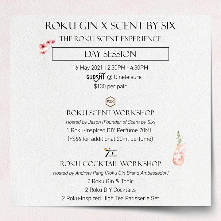 Roku Gin x Scent by Six - The Roku Scent Experience (Day Session) image