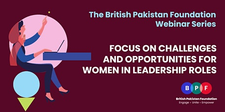Focus on Challenges and Opportunities for Women in Leadership Roles tickets