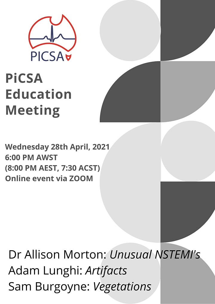 PiCSA Education Meeting- 28th April 2021 image