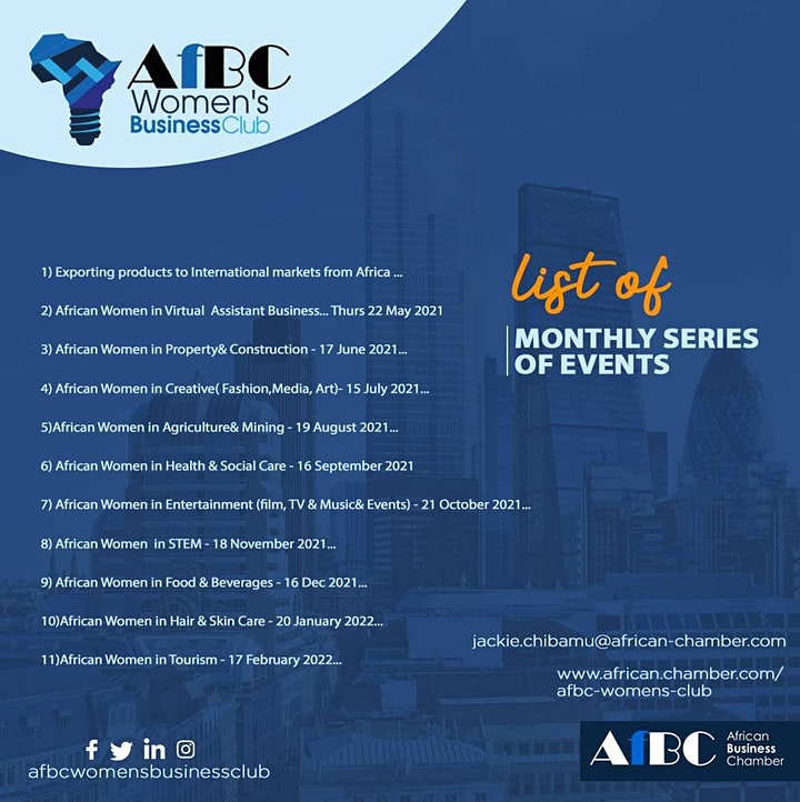 AfBC African Women's Business Series  -  Entertainment image