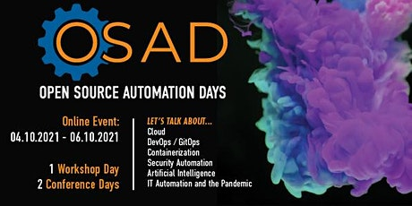 OSAD - Open Source Automation Days 2021 - Online Conference tickets