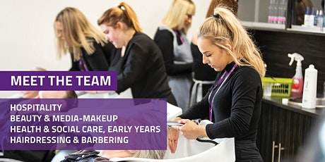 Meet the team: Hospitality, Beauty, Healthcare, Early Years & Hairdressing tickets