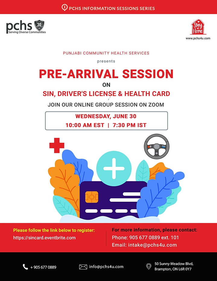 Pre-arrival Session on SIN, Driver's License, and Health Card image