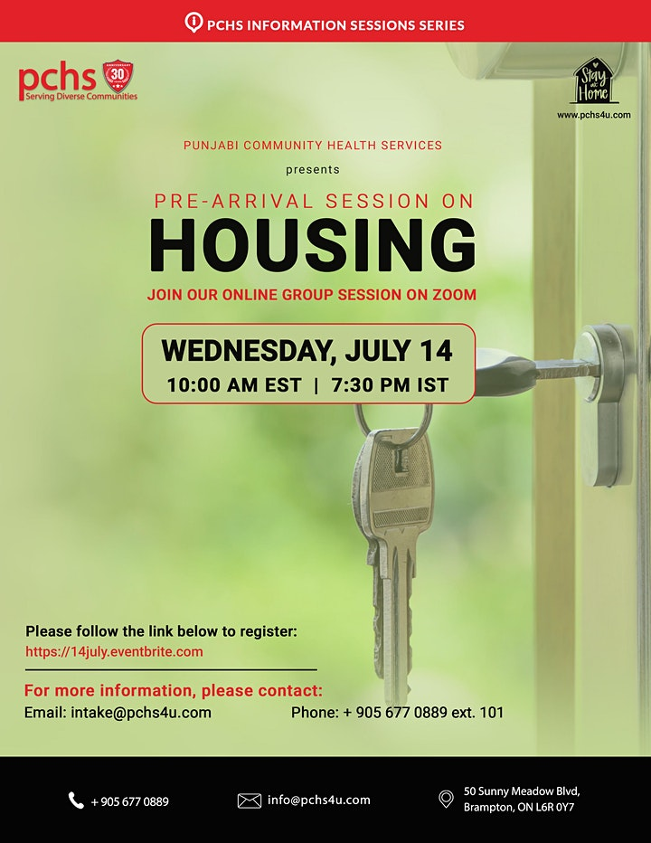 PCHS Pre-Arrival Session on Housing image
