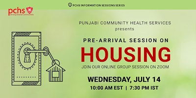PCHS Pre-Arrival Session on Housing