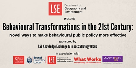 Behavioural Transformations in the 21st Century tickets