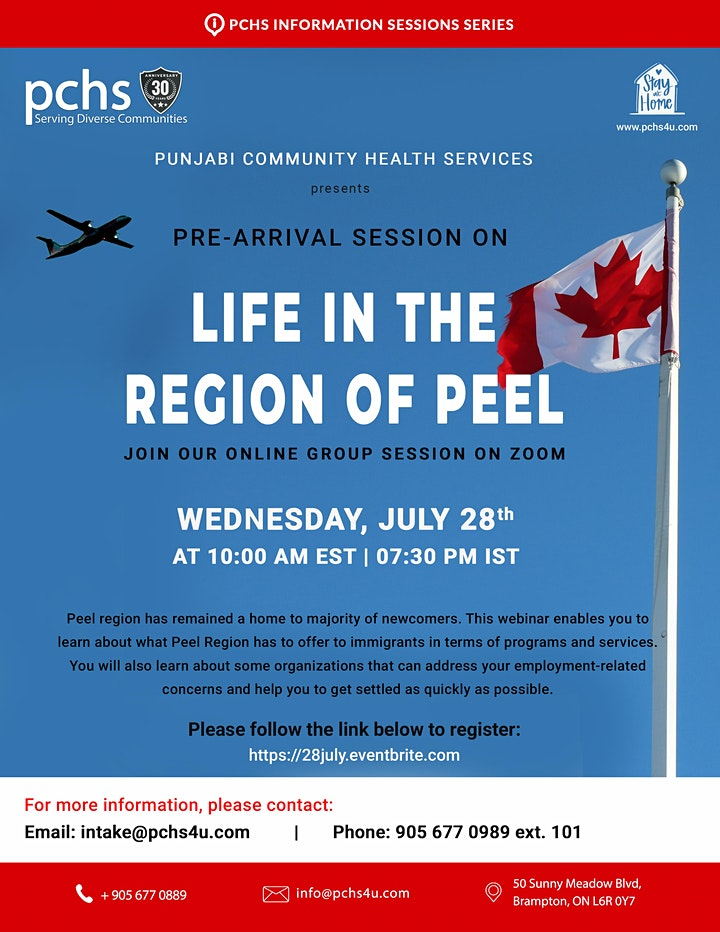 Pre-arrival Session: Life in the REGION OF PEEL image