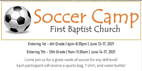 FBC Soccer Camp 2021 tickets