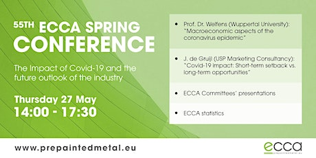 The impact of COVID-19 on the coil coating industry - ECCA 55th Conference tickets