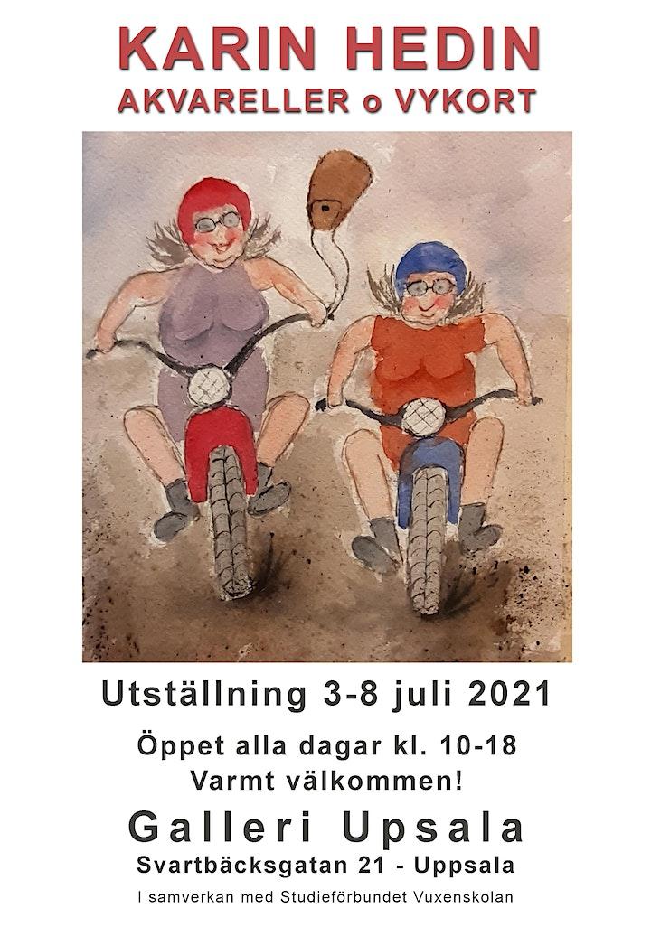 Karin Hedin - Akvareller o Vykort på Galleri Upsala bild