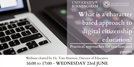 What is a character based approach to digital citizenship education? tickets
