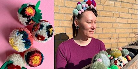 Blumen-Pompons einfach selber machen - für Mode und Design Tickets