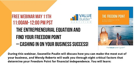 The Entrepreneurial Equation and Find Your Freedom Point tickets