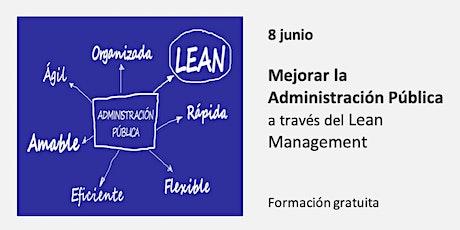 Mejorar la Administración Pública a través del Lean Management entradas