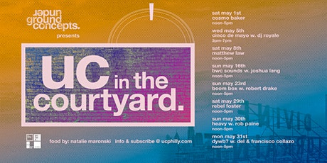 uc in the courtyard: boombox w. robert drake tickets