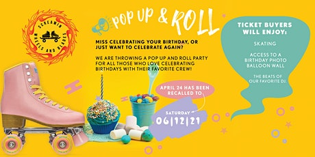Pop Up & Roll -  Celebrating  Birthday's  - Session 4 - Adult Skate tickets