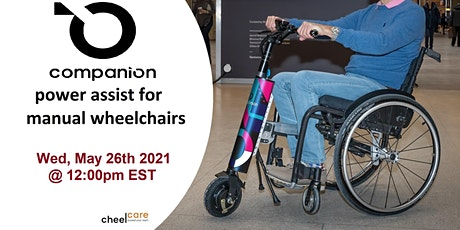 COMPANION Power Assist for manual Wheelchairs tickets