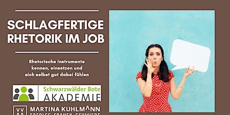 Schlagfertige Rhetorik zum Kontern im Job Tickets