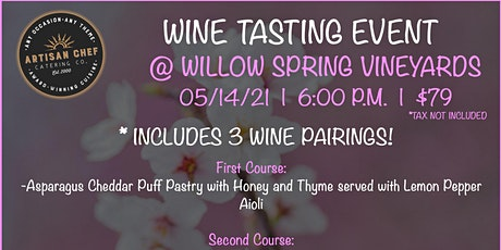 May Wine Tasting Dinner Event tickets