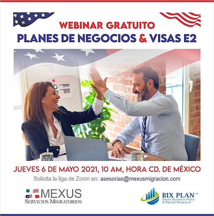 Imagen de WEBINAR GRATUITO: VISA E2 & PLANES DE NEGOCIOS