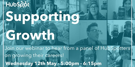 *Webinar* HubSpot Presents: Supporting Growth tickets