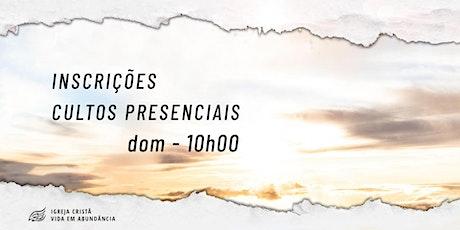 Culto Dominical - 20/06/2021 ingressos