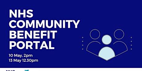 NHS Community Benefit Portal tickets