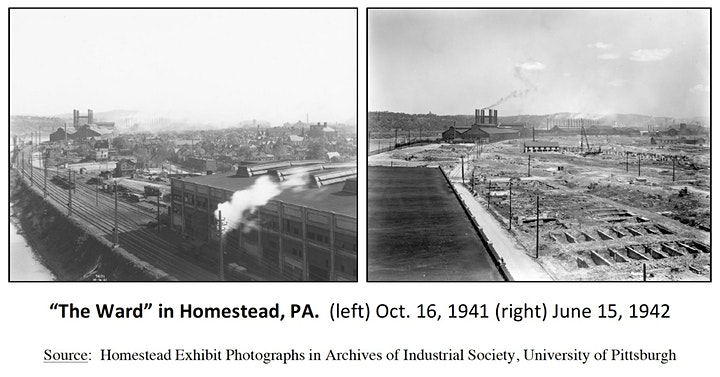 """Destruction of """"The Ward"""" – 80 Years Later, Homestead, PA image"""