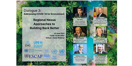 Add. COVID-19 for the Env.: Regional Nexus Approaches to Build Back Better tickets