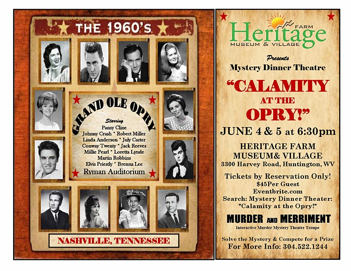 """Mystery Dinner Theater:  """"Calamity at the Opry!"""" image"""