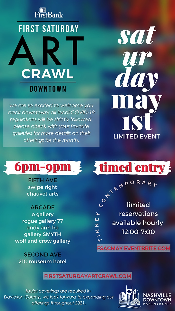 FirstBank First Saturday Art Crawl Timed Entry image
