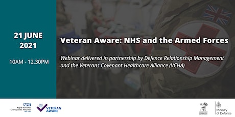 Veteran Aware: NHS and the Armed Forces tickets