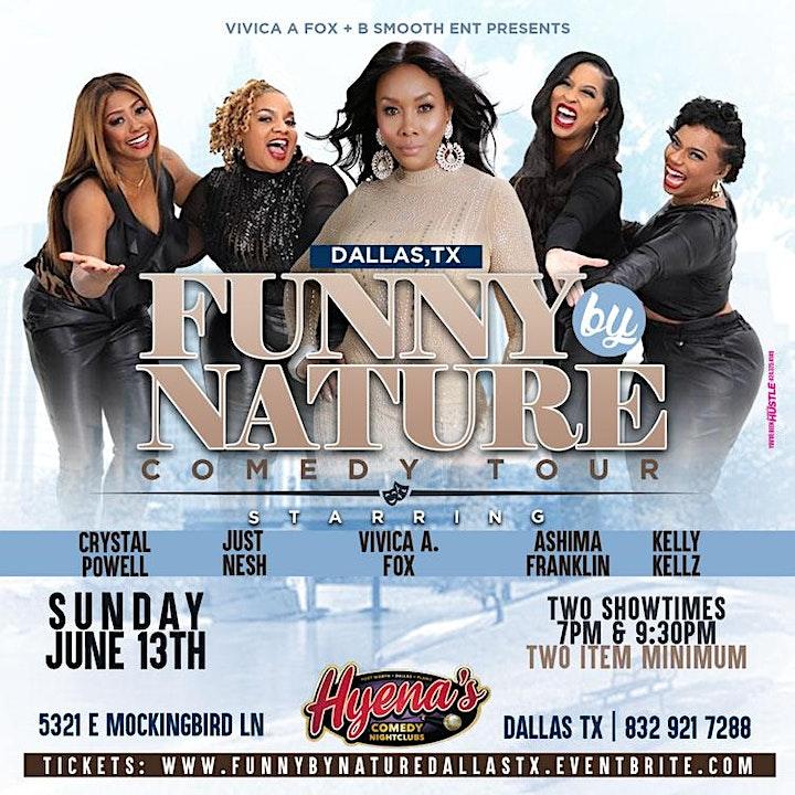Dallas Tx Vivia A Fox Presents Funny By Nature Comedy Tour image