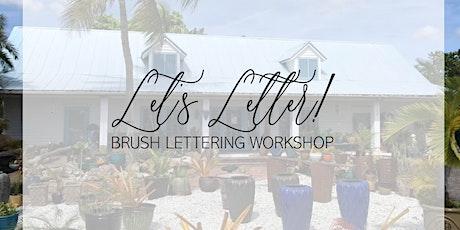 Bubbles & Brush Lettering Workshop tickets