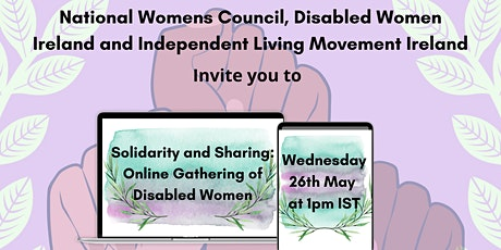 Solidarity and Sharing: Online Gathering of Disabled Women tickets