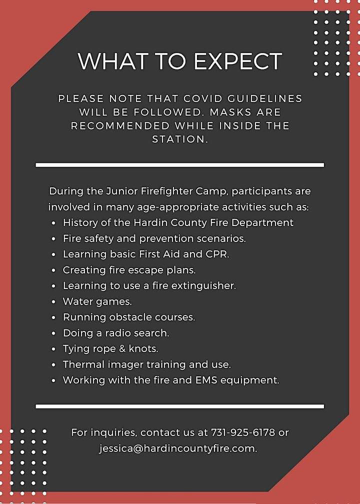 Junior Firefighter Camp - July 8-10 image