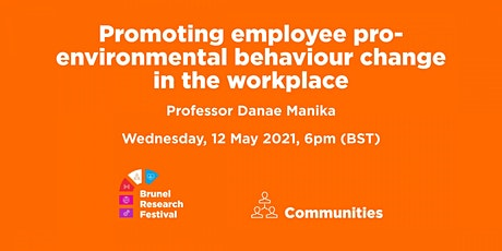 Promoting employee pro-environmental behaviour change in the workplace tickets