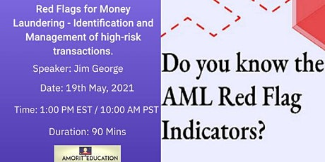 Red Flags for Money Laundering - Identification of high-risk transactions. tickets