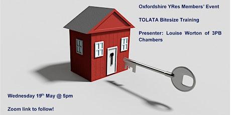 YRes Oxfordshire - TOLATA Bitesize Training tickets