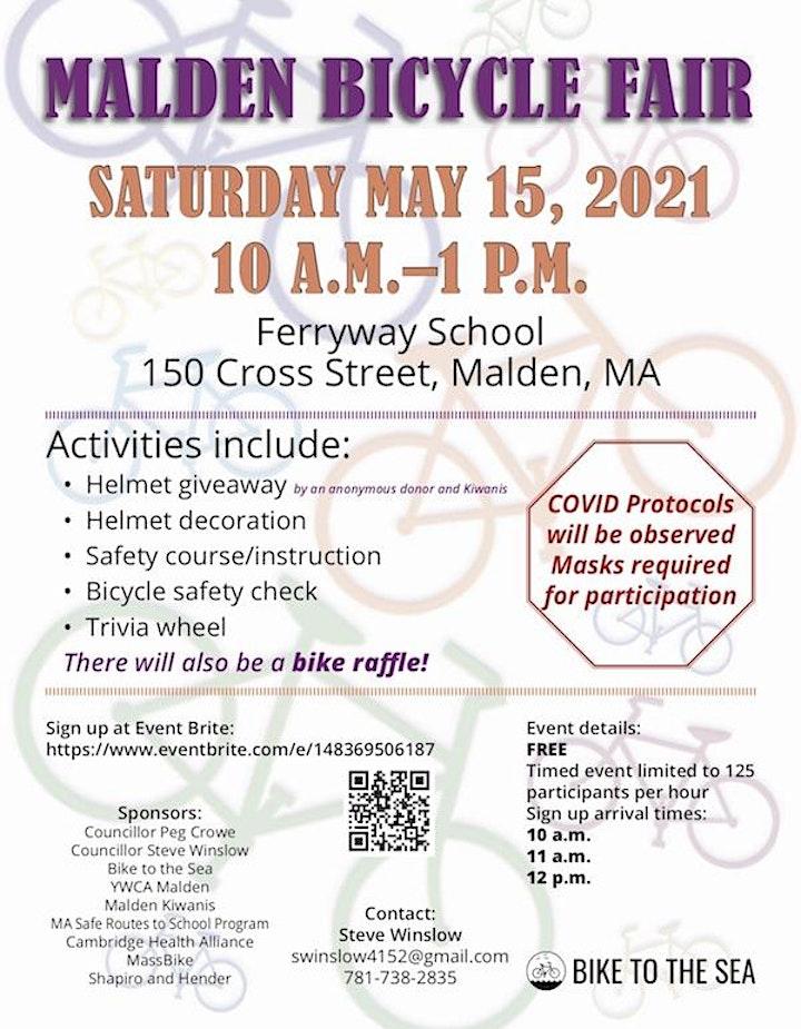Malden Bike Safety Fair and Helmet Giveaway image