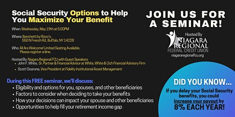 Social Security Options to Help You Maximize Your Benefit: A Seminar tickets