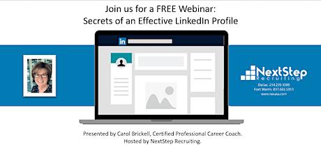 Secrets of an Effective LinkedIn Profile tickets