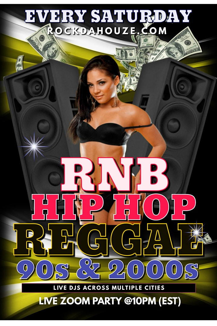 90s and 2000s - Hip Hop, RnB, Reggae - Online Zoom Party! image