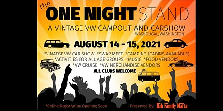 The ONE Night Stand - A Vintage VW Campout, Car Show, Swap Meet & More! tickets