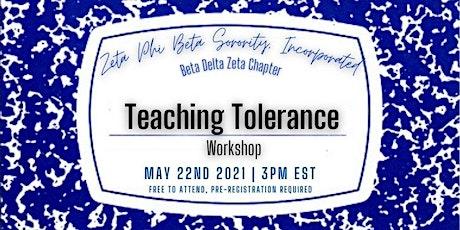 Teaching Tolerance Workshop tickets