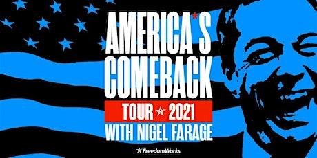 Nigel Farage - America's Comeback Tour 2021 tickets